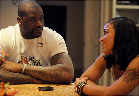 Shaq Dumps Hoopz And Security Escorts Her Out!