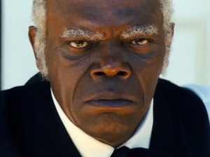 "Samuel L. Jackson discusses his controversial role in the movie titled ""DJango Unchained."""