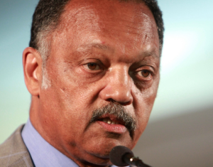 Rev. Jesse Jackson calls for a ban on assault weapons, citing they are a threat to national security and homeland security.