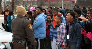students and cops
