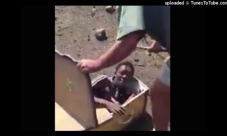 News: 2 White South African Men Arrested After Tryin to Force Black Man Into A Coffin