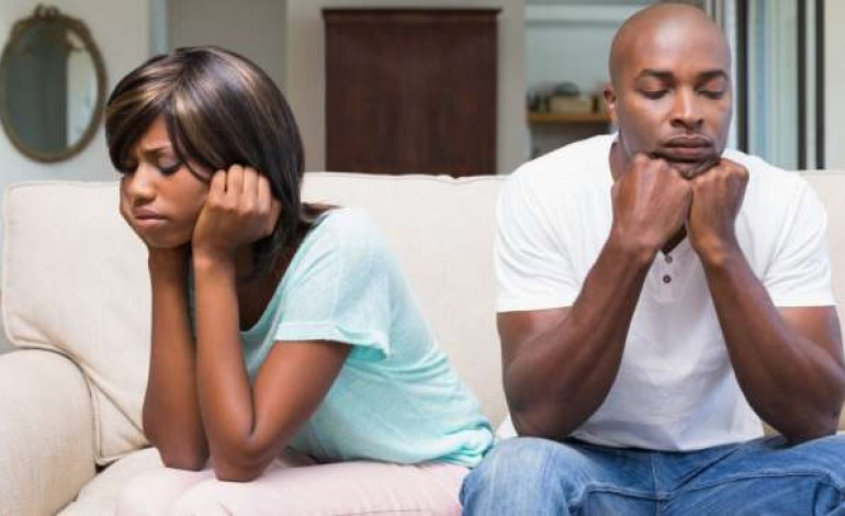 Image result for unhappy black couple