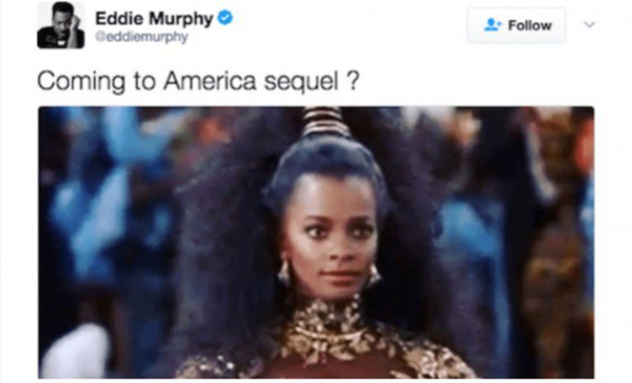 Coming to America Sequel Buzz Following Tweet From Eddie Murphy's Account