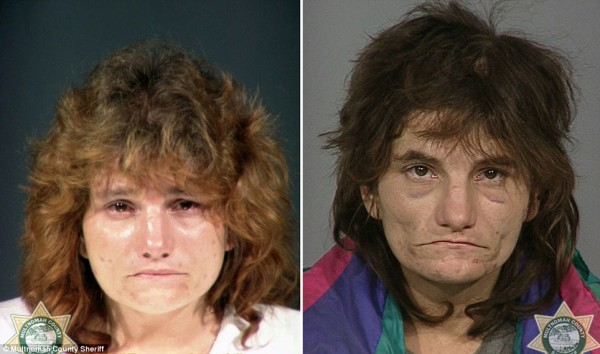 The changing faces of addicts: New photos reveal the